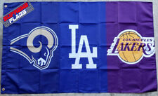 Los Angeles Rams Dodgers Lakers Flag Banner 3x5 ft NFL MLB NBA Man Cave