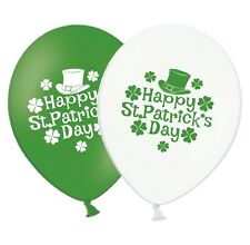 "St Patrick Day - Leprechaun Hat - 12"" Printed Latex Balloons Asst pack of 25"