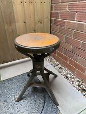Vintage industrial Evertaut engineers Workshop stool