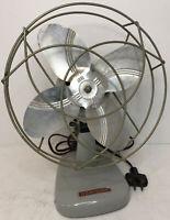 Vintage Mid Century Dominion 8 Inch Model 2004-A Mini Desk Fan Works Great