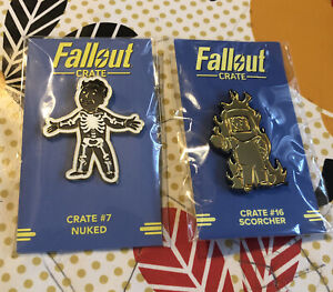 Fallout Loot Crate Nuked & Scorcher Pins.
