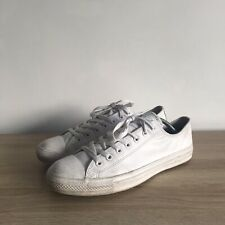 Converse All Star Low Top White Leather Trainers Mens Size 10.5 44.5