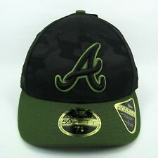 NEW Era MEN'S MLB Atlanta Braves Memorial DAY Camo 5950 montato CAP-TAGLIA 7 1/8