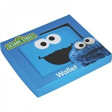 Cookie Monster Folding Wallet Sesame Street Gift Idea Mens Retro OFFICIAL BOXED