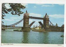 Tower Bridge London 1970 Postcard 204a