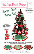 Snow Days Tree Set Sewing Pattern!    Skirt + Ornaments