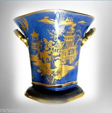 Carlton Ware vase Chinoiserie gold oriental scenes - FREE SHIP