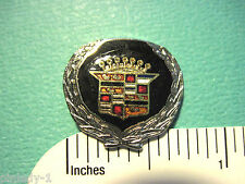 CADILLAC with wreath around  logo - hat pin , lapel pin , tie tac GIFT BOXED BK