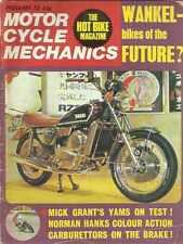 MOTORCYCLE MECHANICS FEB 1973 WANKEL BIKES FUTURE MICK GRANT'S NORMAN HANKS