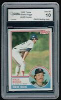 WADE BOGGS ~GRADED~ ~ROOKIE~ 1983 TOPPS BASEBALL CARD!!
