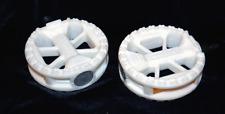Wellgo Round 1/2 BMX Pedals / White Pedals 1/2 BMX Pedals - Solid White NEW!