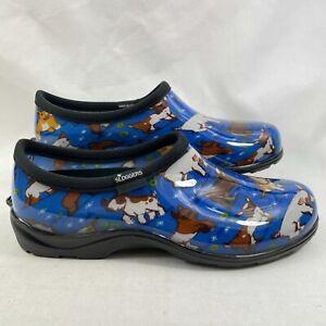 Sloggers Women's Goats Waterproof Garden Shoe Sky Blue US 11M
