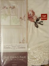 """New! Window Curtain one embroidered / Lace Valance 58""""x30"""" Maria"""