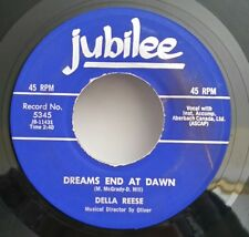 Della reese Jubilee 5345 DREAMS END AT DAWN   45 SHIPS FREE