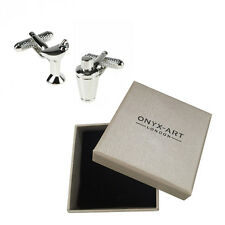 Mens Martini Glass & Cocktail Shaker Cufflinks & Gift Box By Onyx Art