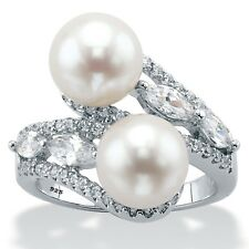 WOMENS STERLING SILVER FRESHWATER PEARL RING SIZE  6 7 8 9 10
