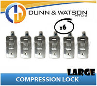 Large Chrome Compression Lock / Handle / Latch (Pop Omega Trailer Canopy ) x6