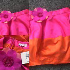 BNWT River Island Neon Orange/Pink Colour Clash Bubble Tulip Skirt Sz 10 32.99