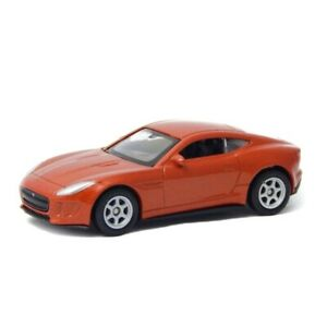 "Jaguar F-Type Coupe Orange Welly 52347 1:60 1:64 Series 3"" inch Toy Car"