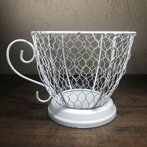 Tea Party Decor Chicken Wire Party Decor Planter Tea Cup