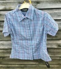 Brand New TOGGI Linden Checked Short Sleeve SHIRT Blue Red White UK 8