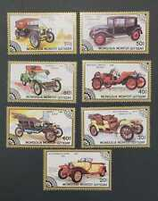Mongolia Old Cars On Stamps - Set of 7 Car Stamps - MNH