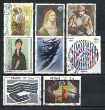 FRANCE 1980 Art very fine set postally used with circular date stamp HCV