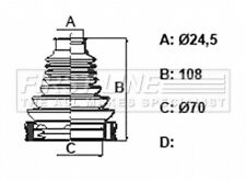 First Line Driveshaft Bellow CV Joint Boot Kit FCB6396 - 5 YEAR WARRANTY