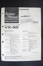 Pioneer vx-50 VCR REPAIR & Ajustes Manual de servicio/MANUAL/ESQUEMA conexiones!