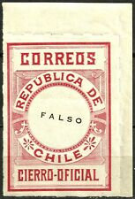 CHILE, OFFICIAL SEAL, ESSAY, SCARCE PIECE, MNH, FULL GUM, YEAR 1900, RED