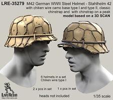 Live Resin 1/35 WWII German Steel Helmet M42 - Stahlhelm 42