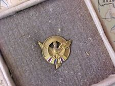 WWII UNUSUAL DISCHARGE VALOR BUTTON LAPEL PIN W/ ENAMEL IN BOX PACIFIC CAMPAIGN