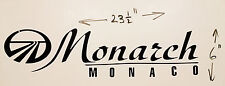 1 NEW MONARCH MONACO RV MOTORHOME CAMPER LOGO DECAL LEGEND BLACK 23X6 GRAPHIC
