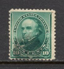 Scott # 226, Used, F, 10¢ Webster, 1890, Light Hand-Stamped Cancel