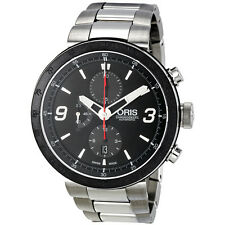 Oris TT1 Chrono Black Dial Automatic Chronograph Stainless Steel Mens Watch 01