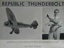 "30"" Republic Thunderbolt WWII fighter Exact Scale HowTo build PLANS"