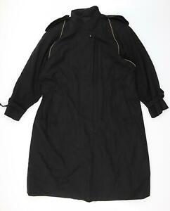 Canada Womens Black   Trench Coat  Size 22  - Belt Loops