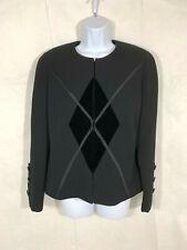 Vintage Stanley Platos Martin Rose Neiman Marcus Women Black Blazer Jacket Sz 10
