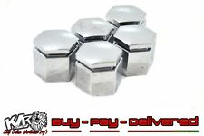 NEW CHROME 22mm Wheel Nut Caps Set of 5 Open End Rim Nuts WM Grange HSV - KLR
