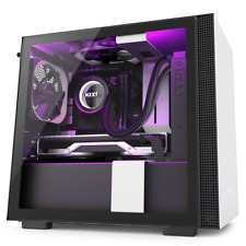 NZXT H210i White/Black Mini-ITX Case w/Tempered Glass Window RGB Smart Control