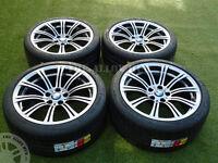 GENUINE BMW M3 E90/2/3 19INCH 220M SILVER OVER BLACK ALLOY WHEELS+MICHELIN TYRES