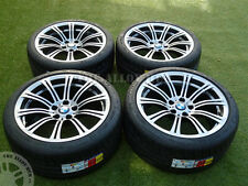 GENUINE BMW M3 E90/2/3 19INCH 220M SILVER OVER BLACK ALLOY WHEELS+MICHELIN TYRES