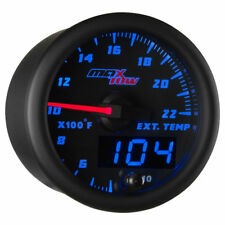 MaxTow 52mm Black & Blue  Double Vision 2200 F Exhaust Gas Temp Gauge - MT-BDV08