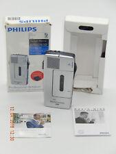 PHILIPS POCKET MEMO 488 Ansteckmikrofon mit Kassette, 2 Batterie+Etui+NEU im OVP