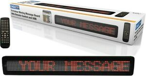Home Business Moving Scrolling LED Message Word Sign Board Display with Remote
