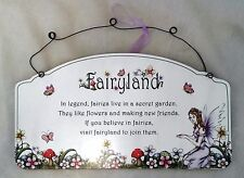 Fairyland Inspirational Sign Plaque Fairy Girl's Wall Art Decorative Ornament A