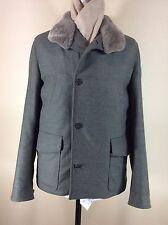 LORO PIANA Rain System Zealander Coat With Beaver Fur Collar--NWT