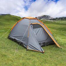 iglú Tienda de campaña Camping Jardín Festival para 2 Personas ANTRACITA NARANJA