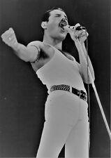 QUEEN PHOTO LIVE AID 1985 FREDDIE MERCURY UNIQUE UNRELEASED IMAGE 12 INCH B & W