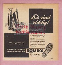 Gusterath-Valle, publicidad 1950, Romika kg Lemm & co. de goma-botas galerías-suela